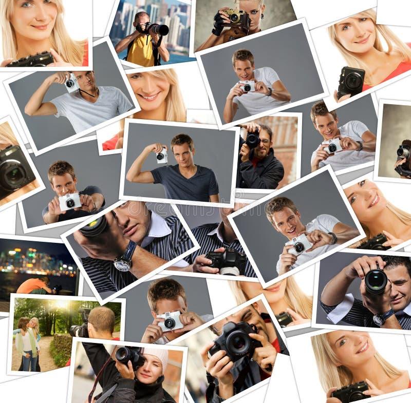 άνθρωποι φωτογραφικών μηχ&al στοκ φωτογραφία