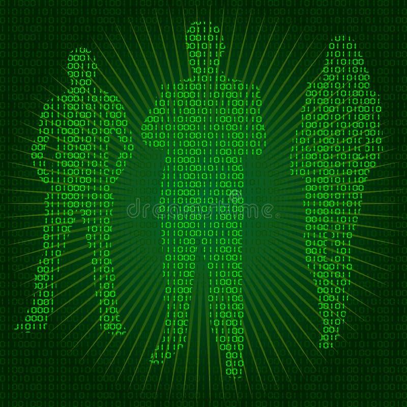 Άνθρωποι Cyber ελεύθερη απεικόνιση δικαιώματος