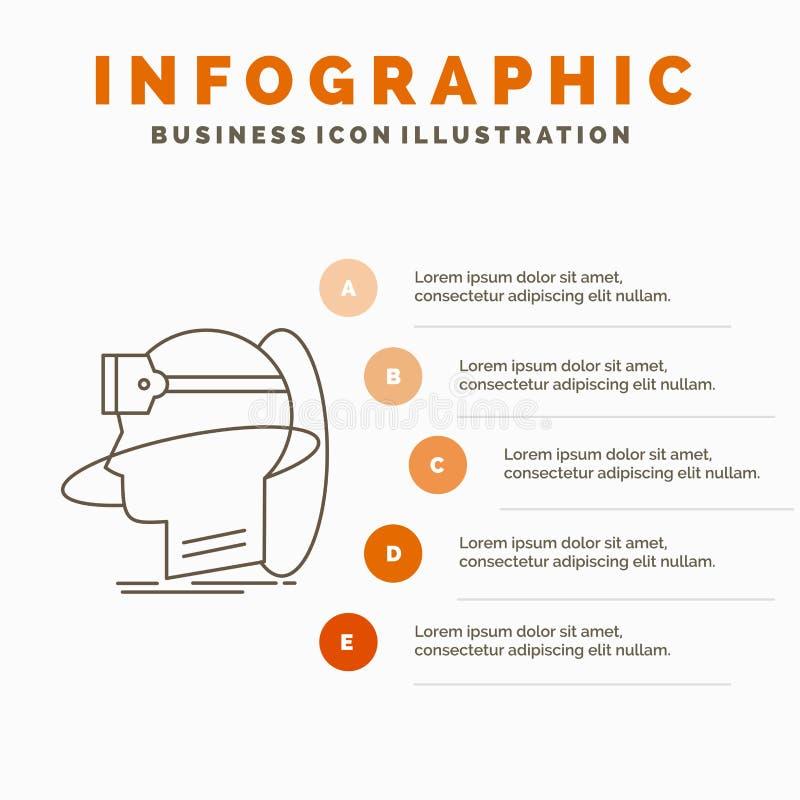 άνθρωπος, άτομο, πραγματικότητα, χρήστης, εικονικό, vr πρότυπο Infographics για τον ιστοχώρο και παρουσίαση r διανυσματική απεικόνιση