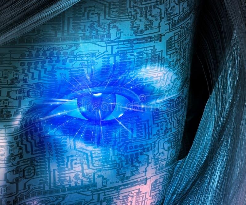 Άνθρωπος τεχνολογίας διανυσματική απεικόνιση