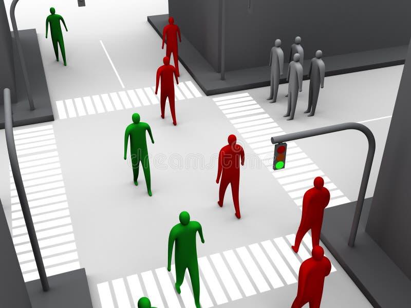 άνθρωπος 3 σταυροδρομιών ελεύθερη απεικόνιση δικαιώματος