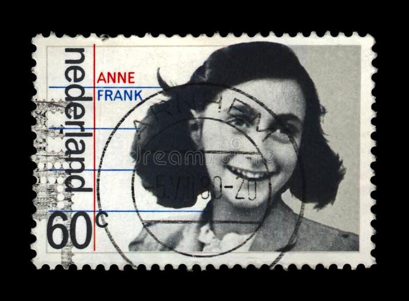 Άννα Φρανκ, 35η επέτειος της απελευθέρωσης από τους Γερμανούς, Κάτω Χώρες, circa 1980, στοκ εικόνες
