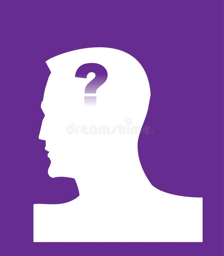 άνοια φατνίων Κεφάλι και ερωτηματικό Διανοητικό healt στοκ εικόνες