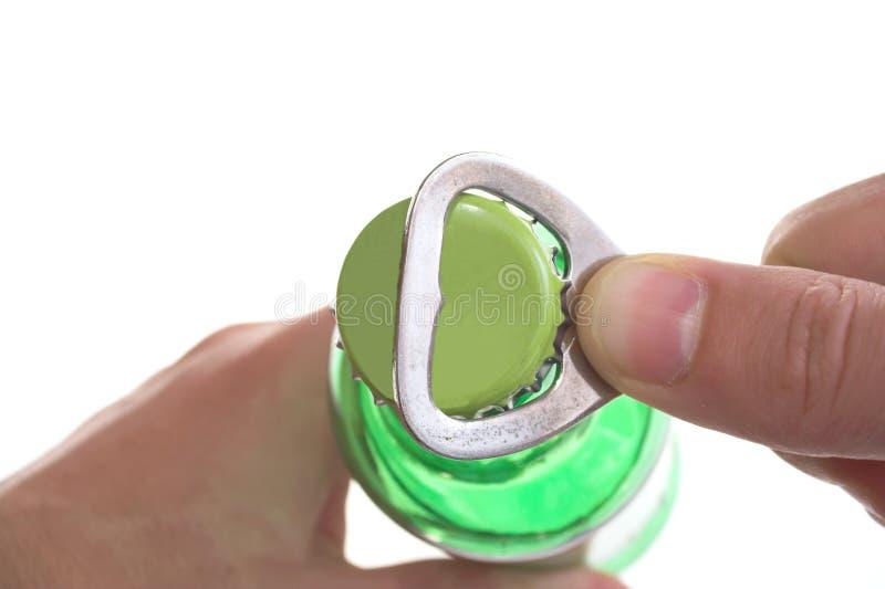 άνοιγμα μπουκαλιών στοκ φωτογραφία με δικαίωμα ελεύθερης χρήσης