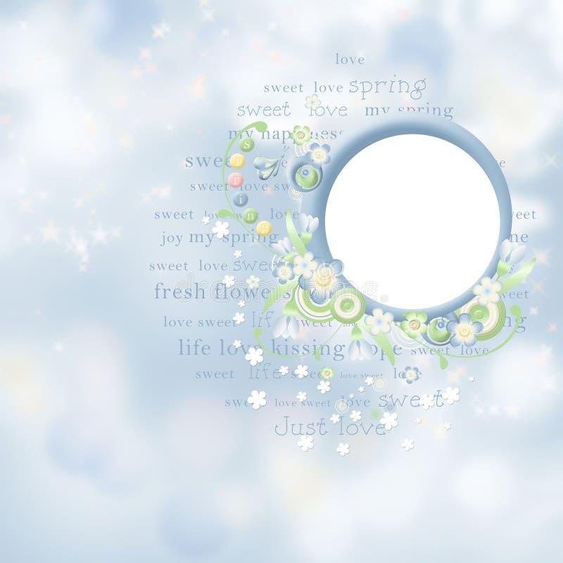 άνοιξη καρτών ομορφιάς διανυσματική απεικόνιση