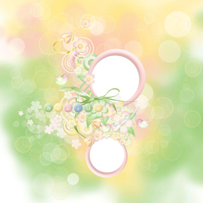 άνοιξη καρτών ομορφιάς απεικόνιση αποθεμάτων