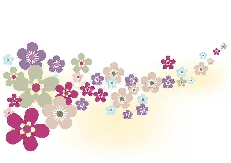 άνοιξη λουλουδιών ανασκόπησης διανυσματική απεικόνιση