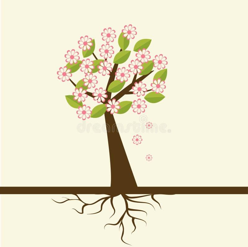 άνοιξη λουλουδιών ανθών διανυσματική απεικόνιση