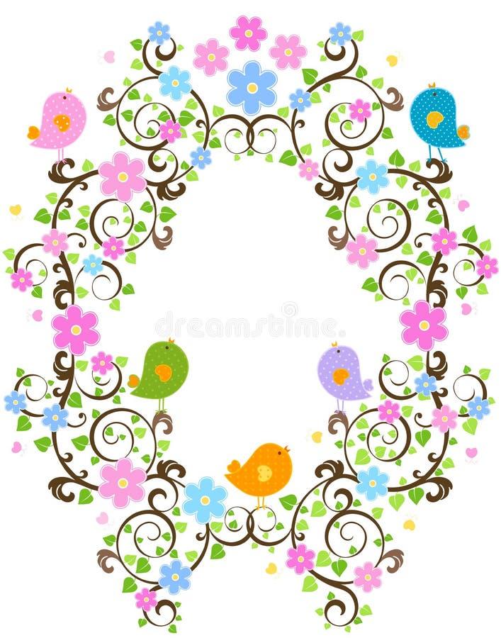 Download άνοιξη πλαισίων διανυσματική απεικόνιση. εικονογραφία από λουλούδια - 13184094