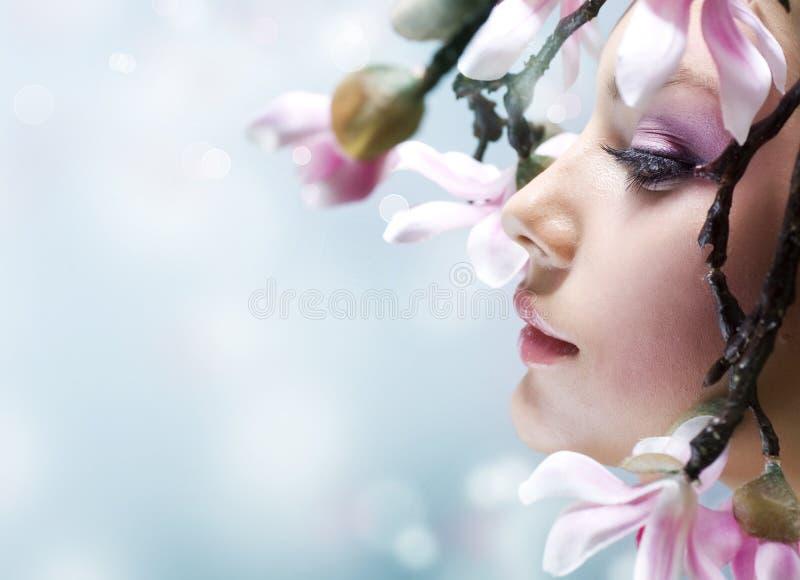 άνοιξη πορτρέτου ομορφιάς στοκ εικόνες