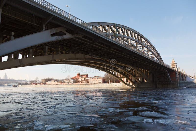 άνοιξη ποταμών της Μόσχας καταστροφών στοκ φωτογραφία με δικαίωμα ελεύθερης χρήσης