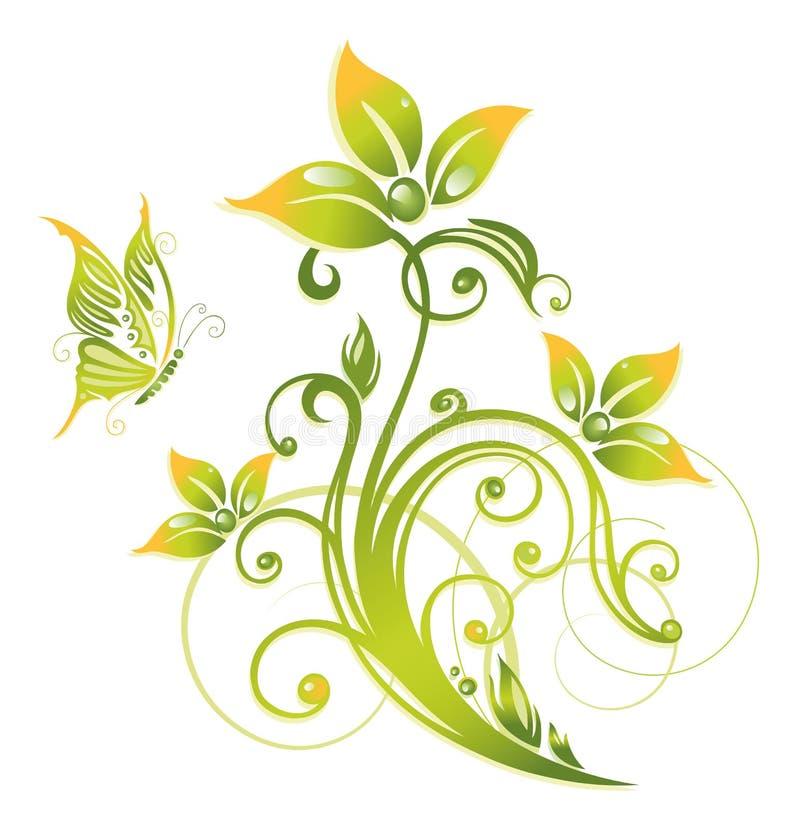Άνοιξη, πράσινη, λουλούδια ελεύθερη απεικόνιση δικαιώματος