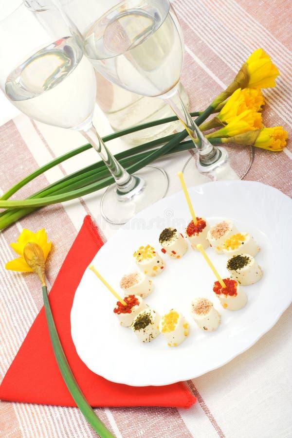άνοιξη πρόχειρων φαγητών τυριών στοκ εικόνα