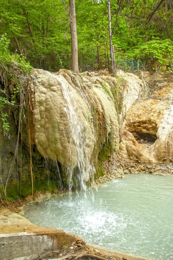 Άνοιξη του θερμικού νερού Bagni SAN Filippo στοκ φωτογραφία