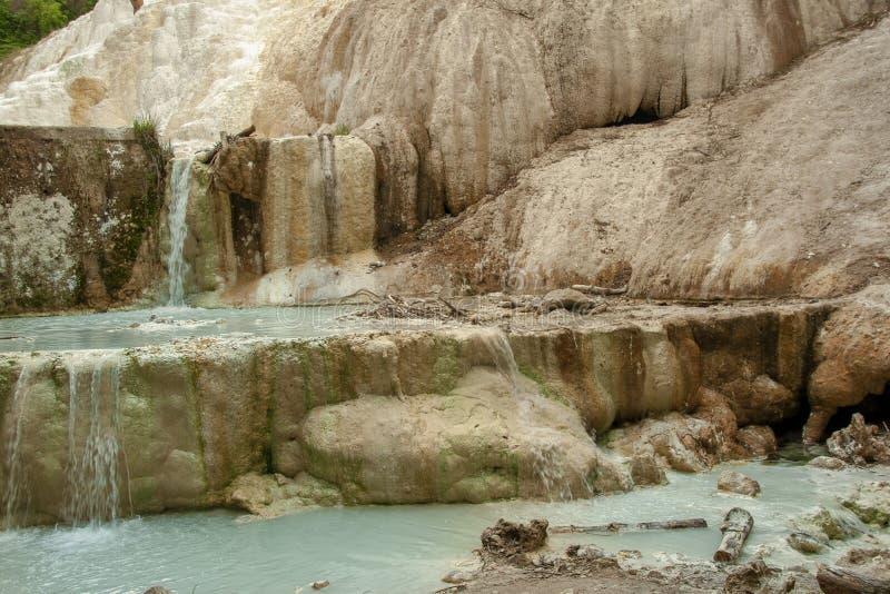 Άνοιξη του θερμικού νερού Bagni SAN Filippo στοκ εικόνες