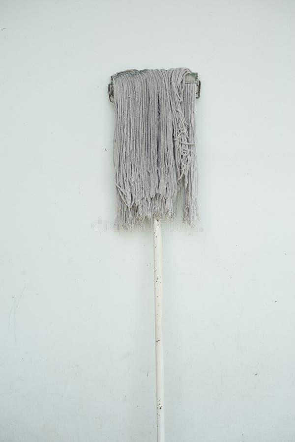 Άπαχο κρέας Mop ενάντια στον άσπρο τοίχο στοκ φωτογραφία με δικαίωμα ελεύθερης χρήσης