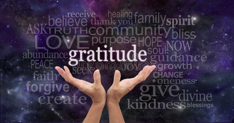 Άπειρη ευγνωμοσύνη διανυσματική απεικόνιση