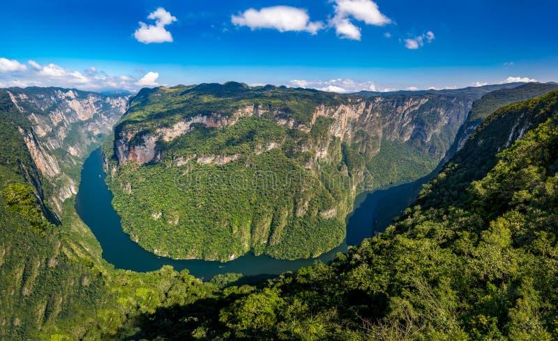 Άποψη άνωθεν το φαράγγι Sumidero - Chiapas, Μεξικό στοκ εικόνα