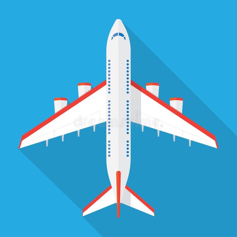 Άποψη αεροπλάνων άνωθεν διανυσματική απεικόνιση