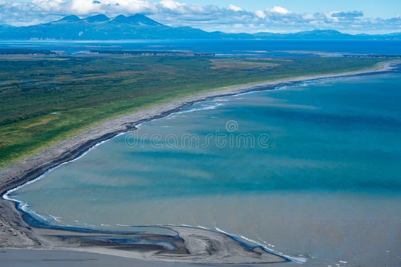 Άποψη αεροφωτογραφίας του εθνικού πάρκου της Αλάσκας ` s Katmai στοκ φωτογραφία με δικαίωμα ελεύθερης χρήσης