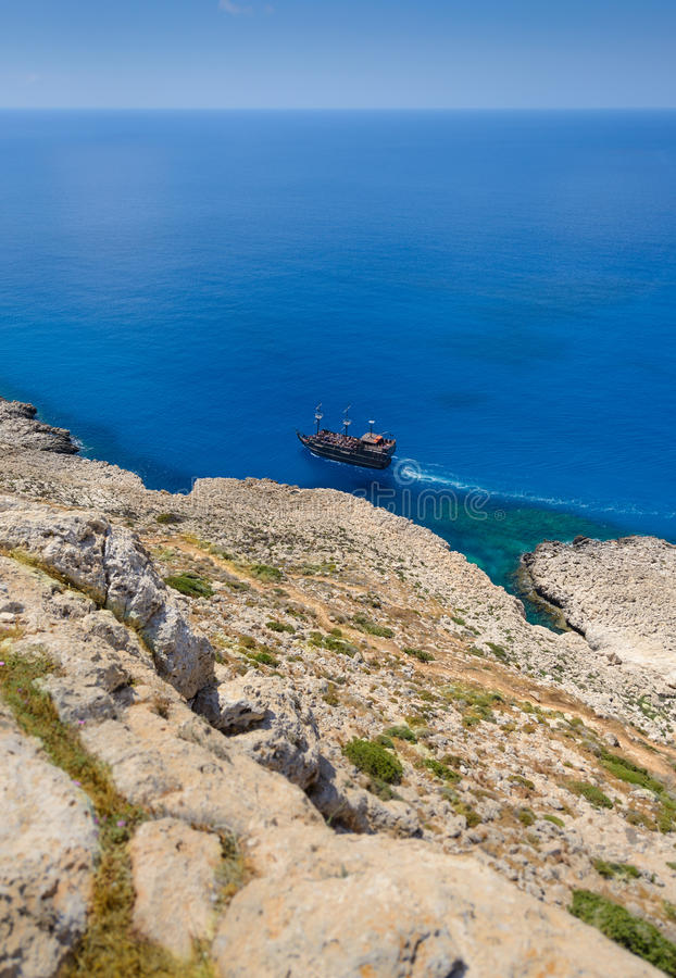 Άποψη ακτών Greco ακρωτηρίων, Κύπρος 8 στοκ φωτογραφίες