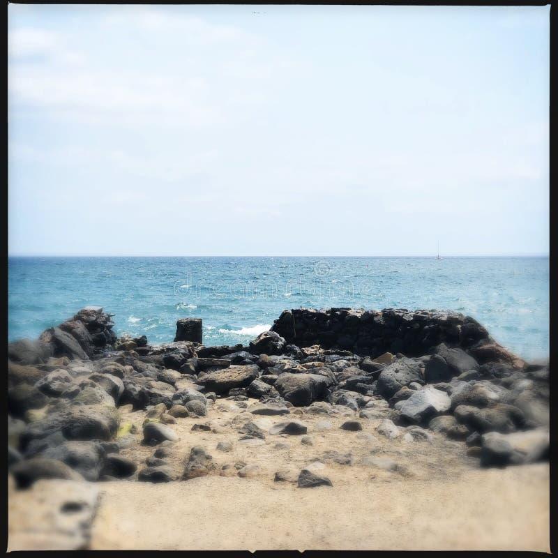 Άποψη ακτών Kihei στοκ φωτογραφίες