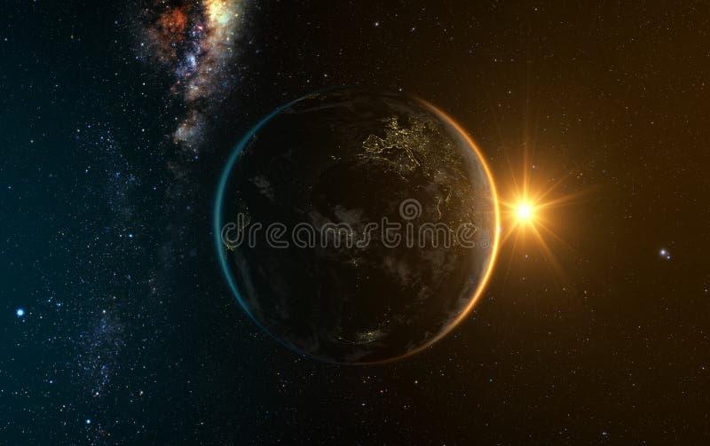 Άποψη ανατολής της γης απεικόνιση αποθεμάτων