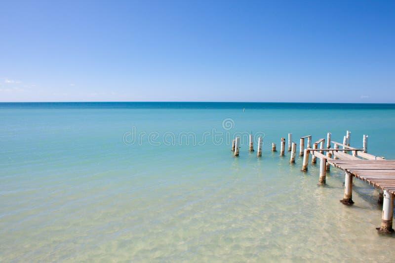 Άποψη αποβαθρών παραλιών νησιών στοκ εικόνες με δικαίωμα ελεύθερης χρήσης