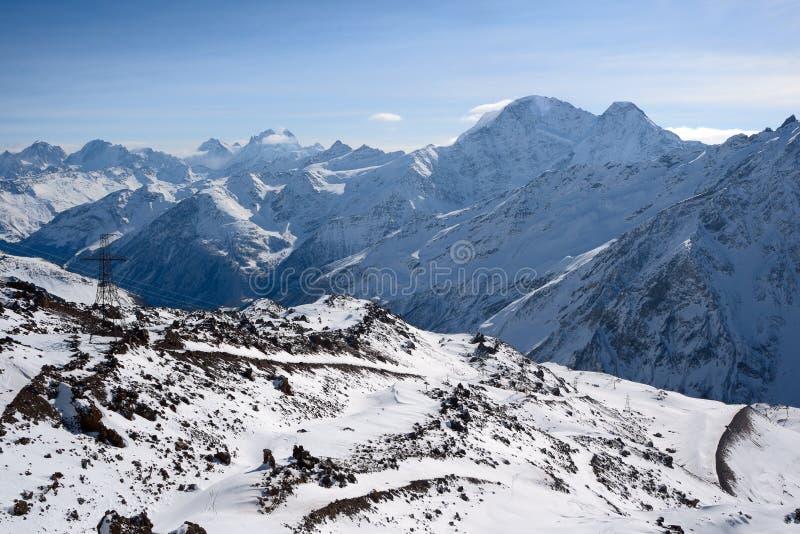 Άποψη από μια κλίση Elbrus στοκ εικόνες