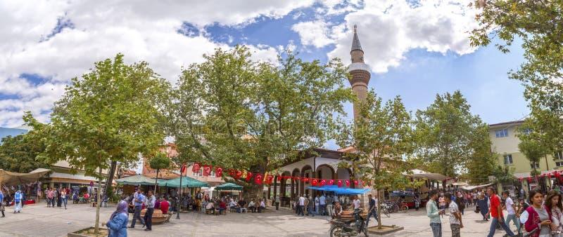 Άποψη από στο κέντρο της πόλης Yenisehir, Bursa, Τουρκία στοκ φωτογραφία