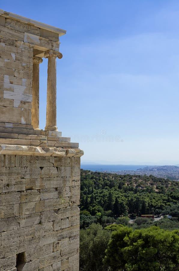 Άποψη από την ακρόπολη, Αθήνα, Ελλάδα στοκ εικόνες