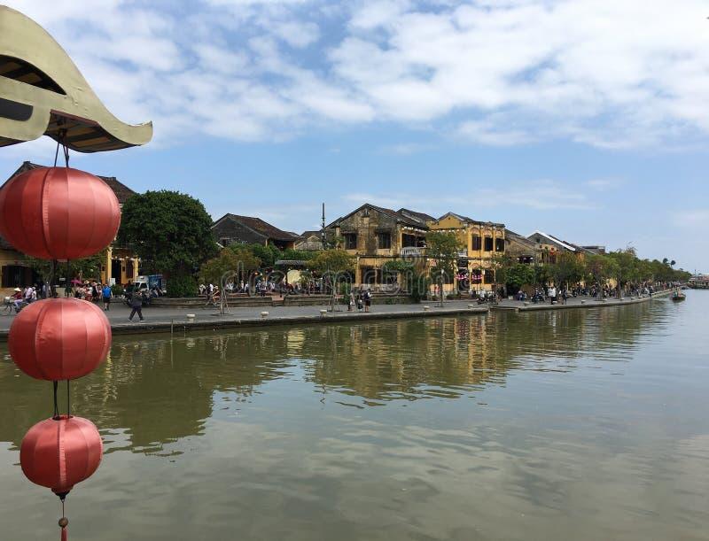 Άποψη από την ιαπωνική γέφυρα σε Hoi, Βιετνάμ στοκ φωτογραφία με δικαίωμα ελεύθερης χρήσης