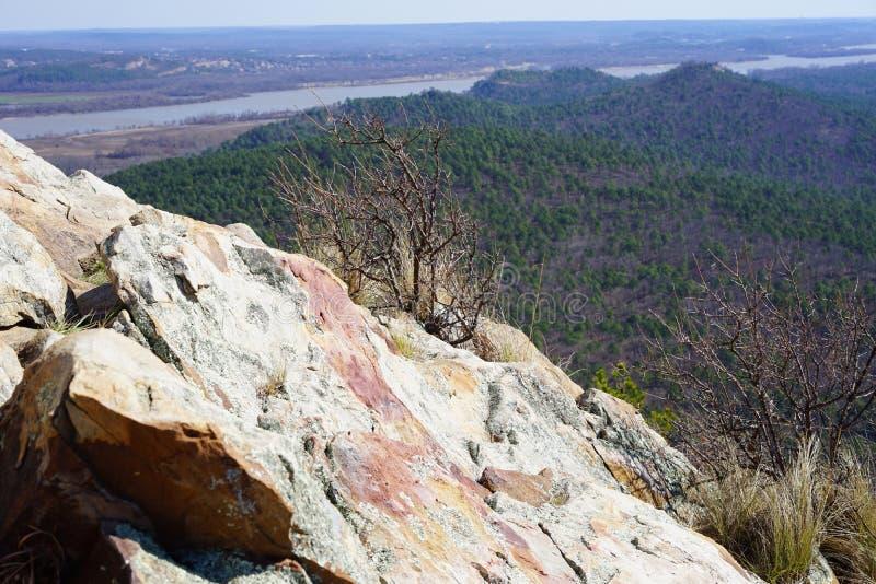 Άποψη από την κορυφή βουνών στοκ φωτογραφίες