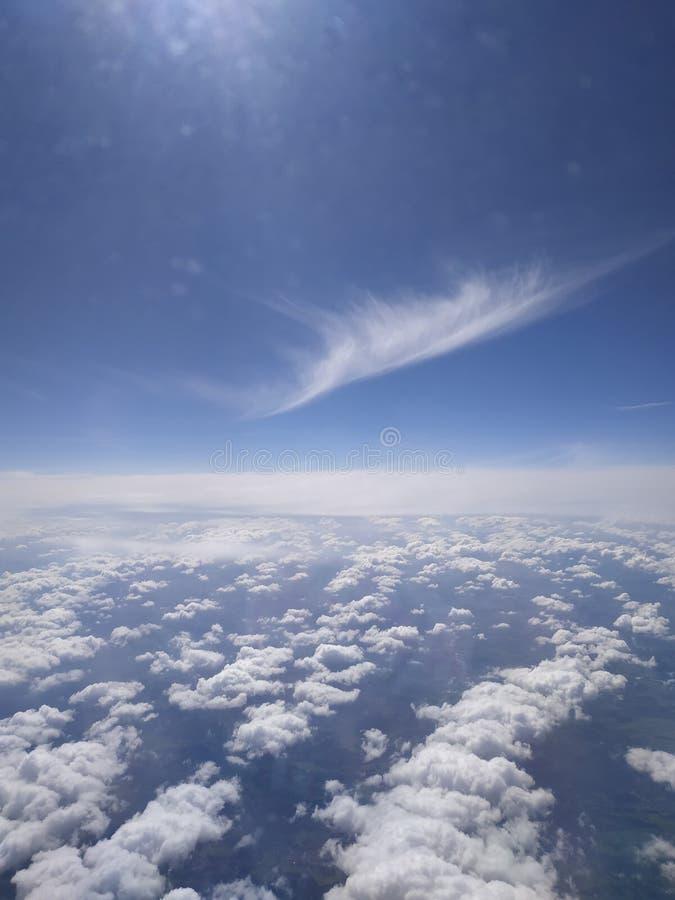 Άποψη από την παραφωτίδα αεροσκαφών στοκ εικόνες
