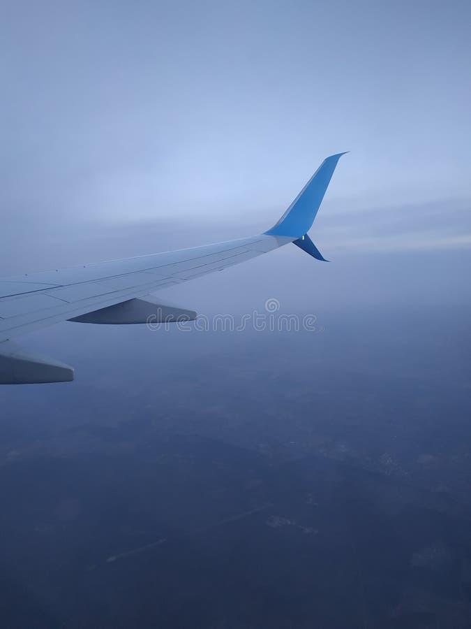 Άποψη από την παραφωτίδα αεροσκαφών στοκ φωτογραφία με δικαίωμα ελεύθερης χρήσης