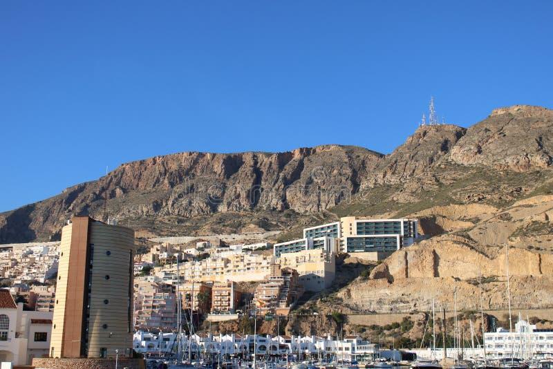 Άποψη από τη μαρίνα των κτηρίων στοκ φωτογραφία με δικαίωμα ελεύθερης χρήσης