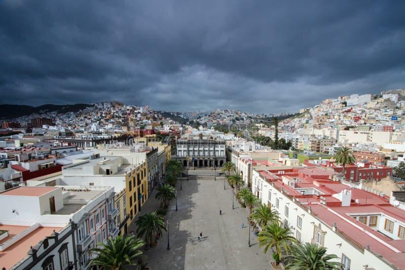 Άποψη από τη Σάντα Άννα Catedral de, Las Palmas de θλγραν θλθαναρηα, θλγραν θλθαναρηα, Ισπανία στοκ εικόνα με δικαίωμα ελεύθερης χρήσης