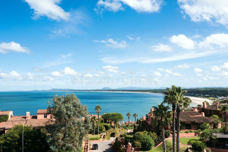 Άποψη από τη χερσόνησο Punta Ballena, Maldonado, Ουρουγουάη φαλαινών στοκ φωτογραφία με δικαίωμα ελεύθερης χρήσης