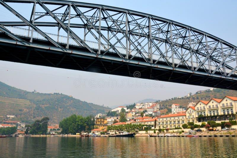 Άποψη από τον ποταμό Douro σε Pinhao, vilage στην Πορτογαλία στοκ εικόνα με δικαίωμα ελεύθερης χρήσης