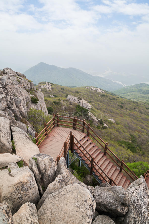 Άποψη από το βουνό Geumjeongsan σε Busan στοκ φωτογραφία με δικαίωμα ελεύθερης χρήσης