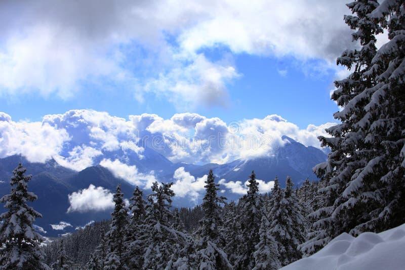 Άποψη από το βουνό Semnoz στοκ φωτογραφία