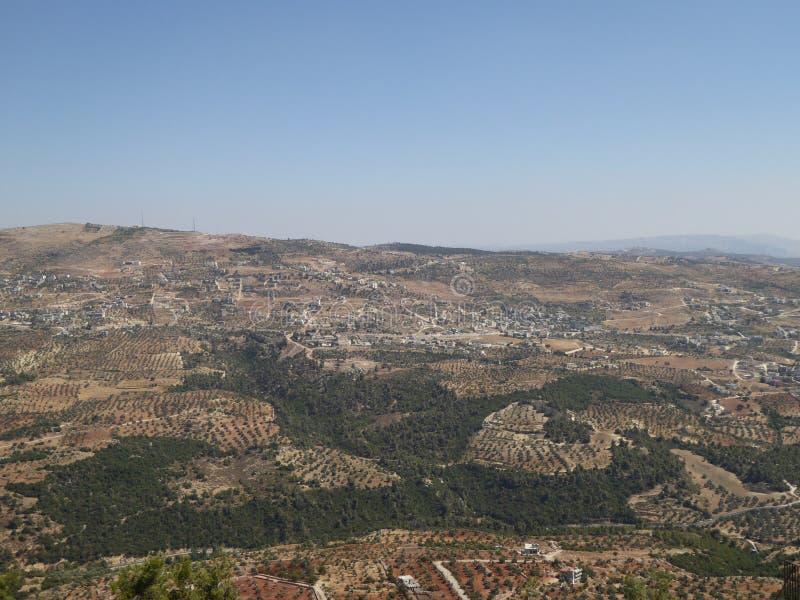 Άποψη από το κάστρο Ajloun στοκ εικόνες με δικαίωμα ελεύθερης χρήσης