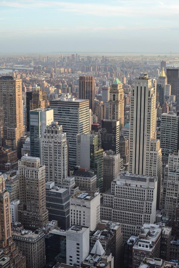 Άποψη από το κέντρο Rockefeller, πόλη της Νέας Υόρκης στοκ εικόνες