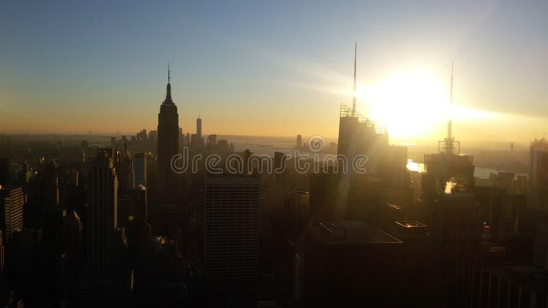 Άποψη από το κέντρο Rockefeller στοκ εικόνες