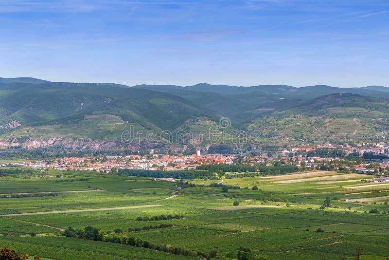 Άποψη από το λόφο αβαείων Gottweig, Αυστρία στοκ φωτογραφία με δικαίωμα ελεύθερης χρήσης