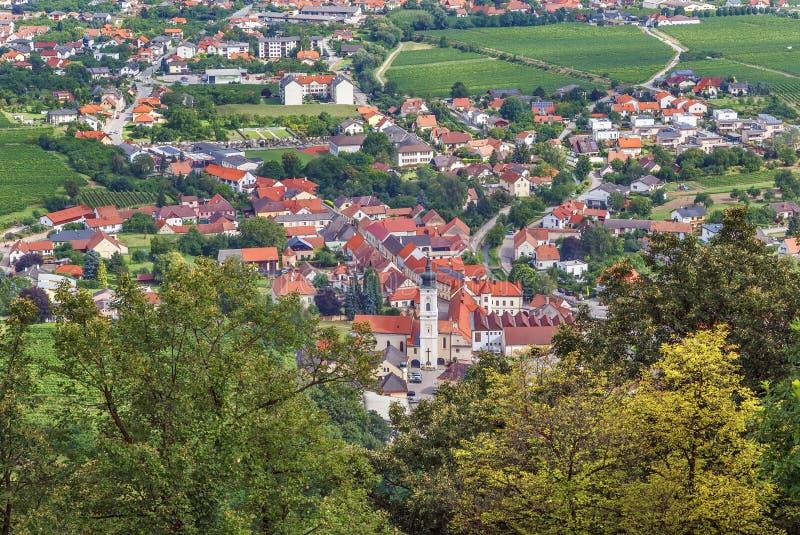 Άποψη από το λόφο αβαείων Gottweig, Αυστρία στοκ εικόνες με δικαίωμα ελεύθερης χρήσης