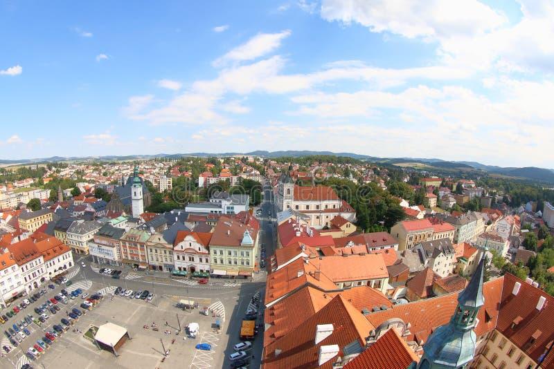 Άποψη από το μαύρο πύργο, Klatovy, Δημοκρατία της Τσεχίας στοκ εικόνες