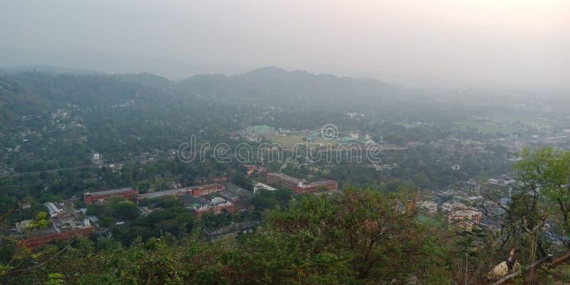 άποψη από το ναό kamakhya στοκ φωτογραφίες