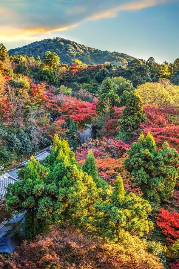 Άποψη από το ναό kiyomizu-Dera στο Κιότο στοκ φωτογραφία με δικαίωμα ελεύθερης χρήσης