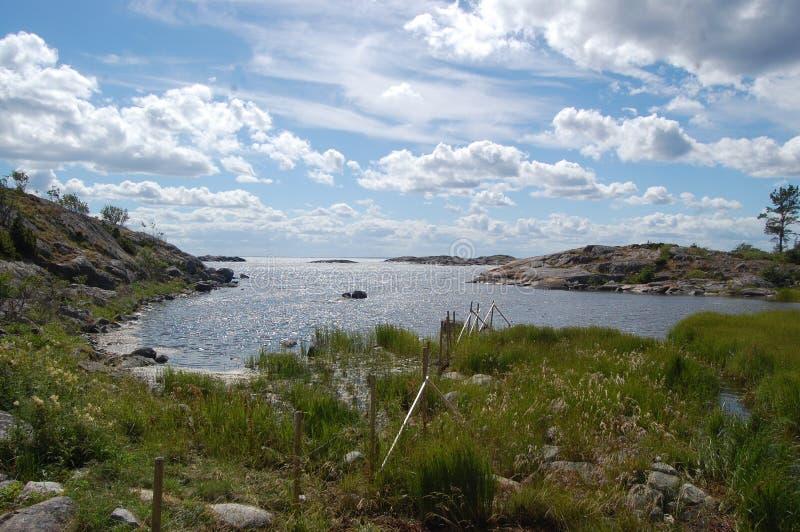 Άποψη από το νησί, Häradsskär στοκ φωτογραφία